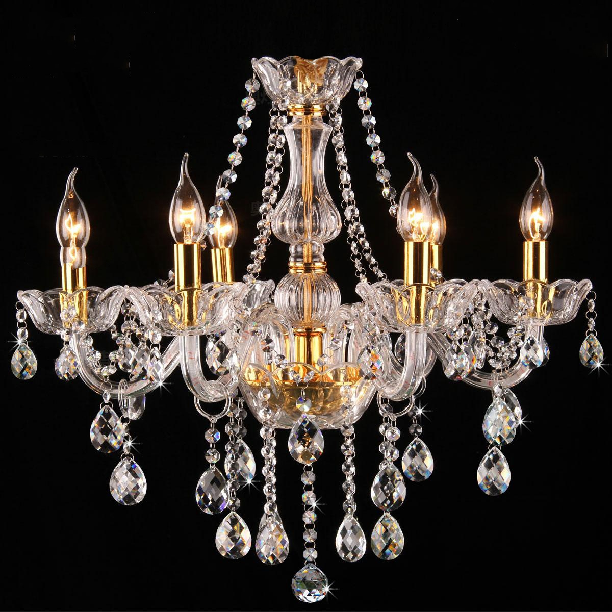 6 8005 Genuine K9 Crystal Chandelier Clear Golden 2 8 8 Arms 10 Arms