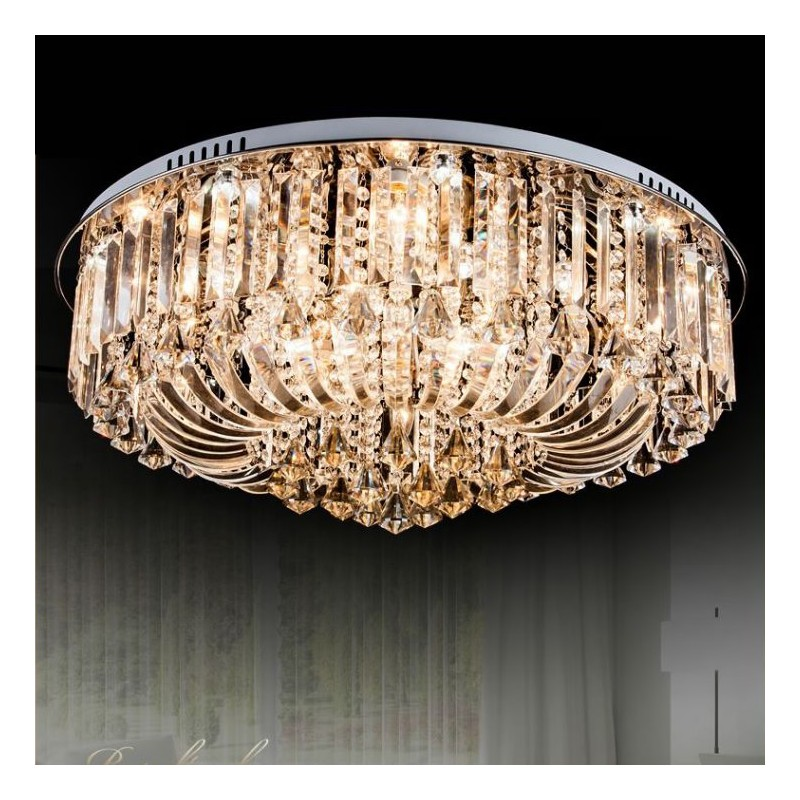 Clear crystal flush ceiling light 1 layer amber crystal flush ceiling light 1 layer mozeypictures Choice Image