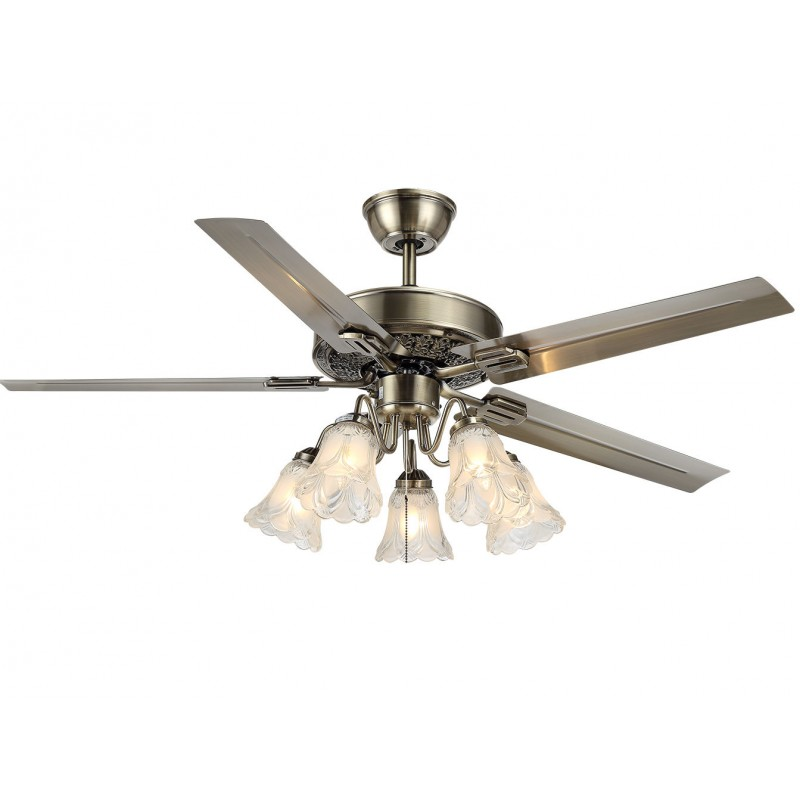 48 ceiling fan light bronze 5 glass light 5 metal blade remote ctrl 3 speed wdw trading. Black Bedroom Furniture Sets. Home Design Ideas