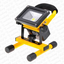 20W Cool White LED Floodlight Rechargeable Light Outdoor - YELLOW