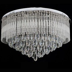 6580 cm modern round k9 crystal led flush ceiling light chandelier 6580 cm modern round k9 crystal led flush ceiling light chandelier remote ctrl aloadofball Gallery