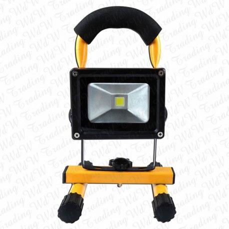 10W LED YELLOW Floodlight Rechargeable Light Outdoor Cool White