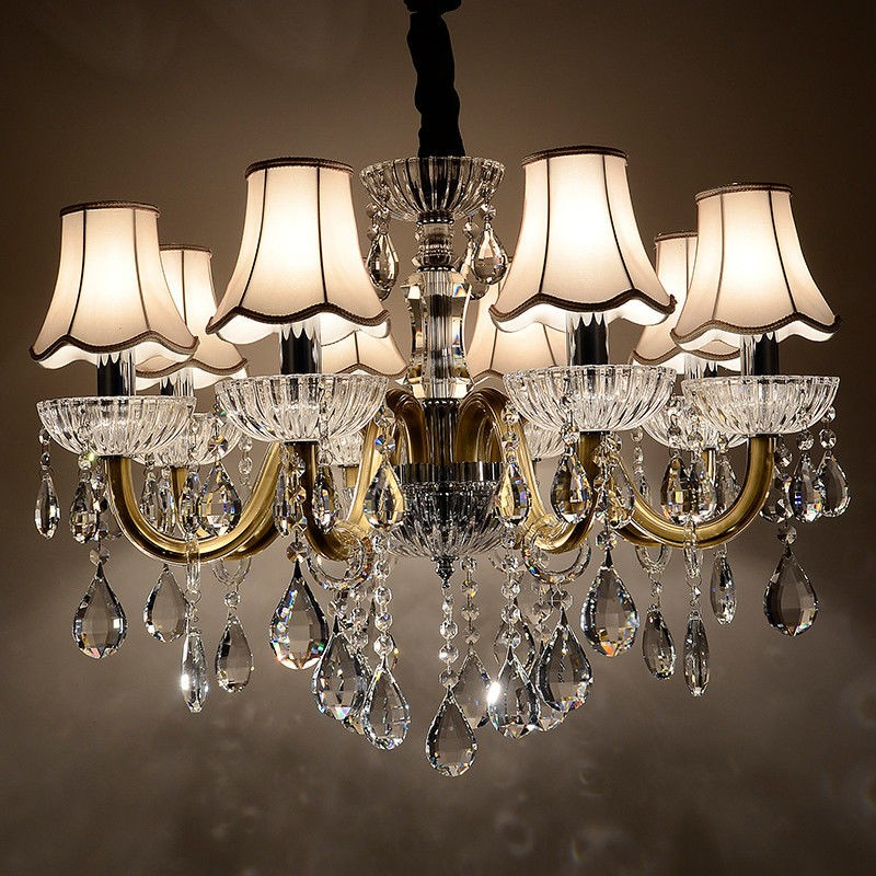 Clear crystal chandelier 6 arms black crystal chandelier 6 arms aloadofball Image collections